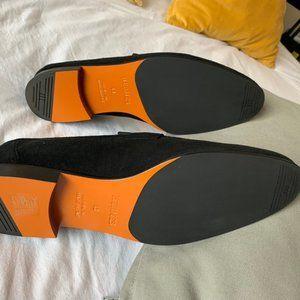 Hermes Shoes - Black Suede Hermes Paris Loafer -Unworn -Brand New